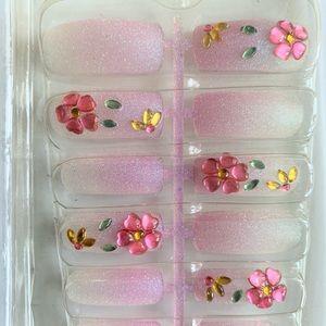 Beauty pink press nail 12 pack